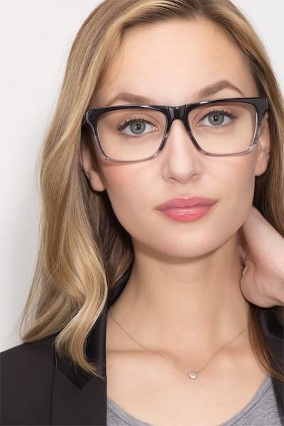 Pioneer Gris Acétate Montures de Lunettes pour Femmes d'EyeBuyDirect, Vue de Face