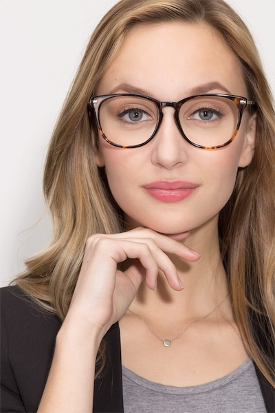 Decadence Tortoise Acetate-metal Eyeglass Frames for Women from EyeBuyDirect, Front View