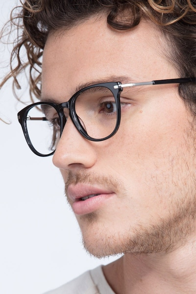 Decadence Black Acetate Eyeglass Frames for Men from EyeBuyDirect