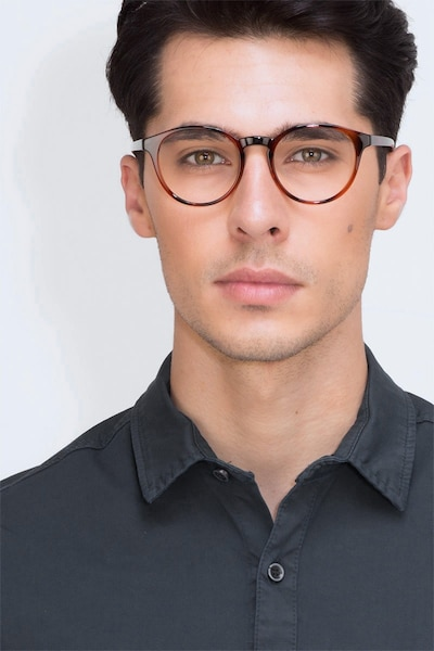 Bright Side Brown Tortoise Plastic Eyeglass Frames for Men from EyeBuyDirect