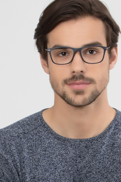 Thursday Navy Plastic Eyeglass Frames for Men from EyeBuyDirect
