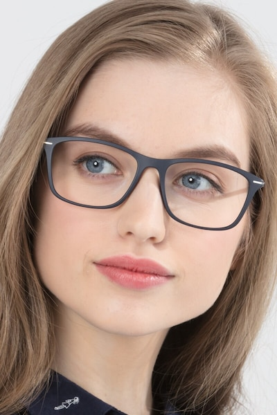 Thursday Navy Plastic Eyeglass Frames for Women from EyeBuyDirect