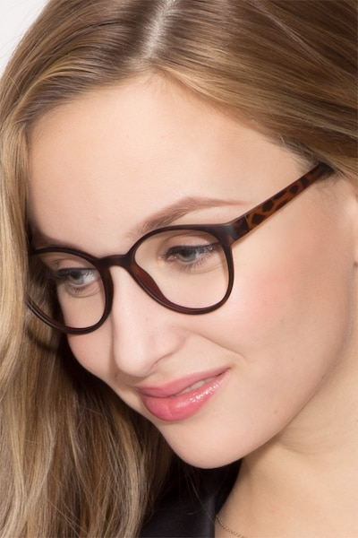 Palette Matte Leopard Plastic Eyeglass Frames for Women from EyeBuyDirect