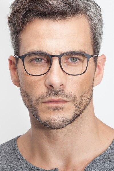 Little Bit Matte Black Plastic Eyeglass Frames for Men from EyeBuyDirect