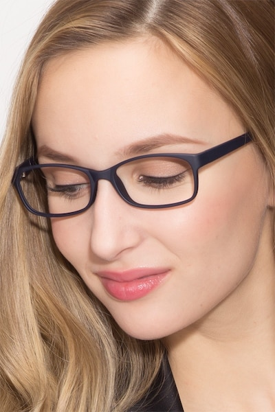 Beads Matte Navy Plastic Eyeglass Frames for Women from EyeBuyDirect