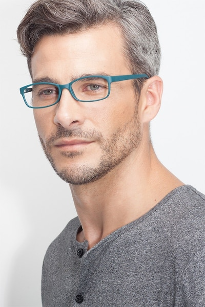 Beads Matte Green Plastic Eyeglass Frames for Men from EyeBuyDirect