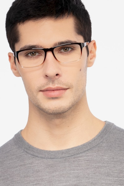 Firefly Brown  Plastic Eyeglass Frames for Men from EyeBuyDirect, Front View