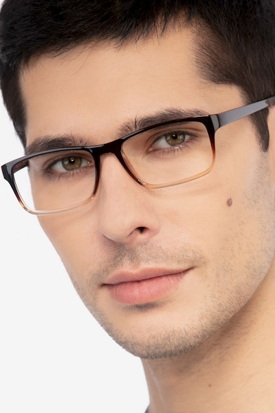 Firefly Brown  Plastic Eyeglass Frames for Men from EyeBuyDirect