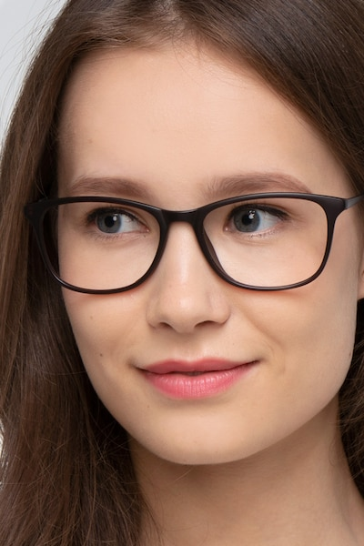 Oliver Matte Brown Plastic Eyeglass Frames for Women from EyeBuyDirect