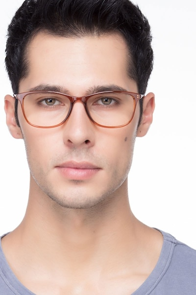 Oliver Brown Plastic Eyeglass Frames for Men from EyeBuyDirect, Front View