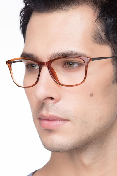 Oliver Brown Plastic Eyeglass Frames for Men from EyeBuyDirect