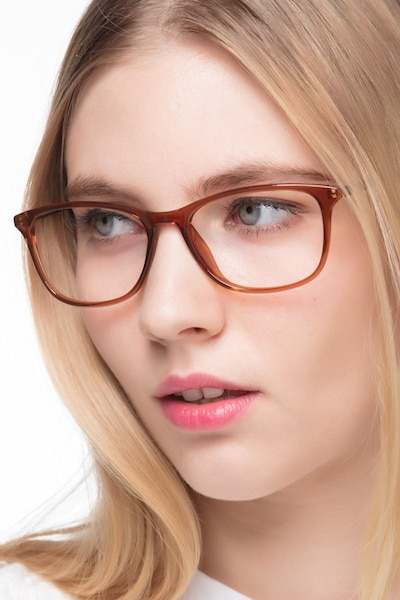 Oliver Brown Plastic Eyeglass Frames for Women from EyeBuyDirect