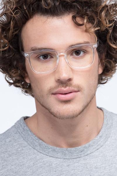 Uptown Transparent Plastique Montures de Lunettes pour Hommes d'EyeBuyDirect, Vue de Face