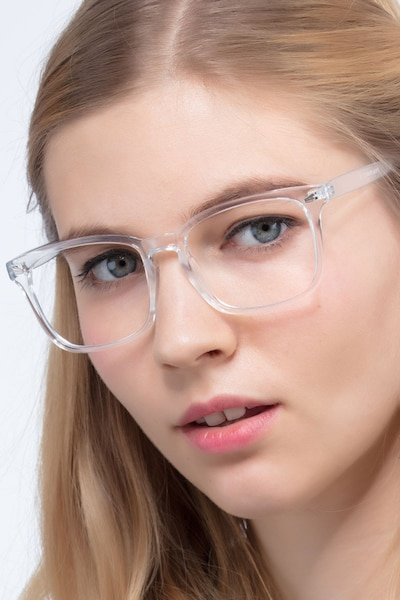 Uptown Clear Plastic Eyeglass Frames for Women from EyeBuyDirect