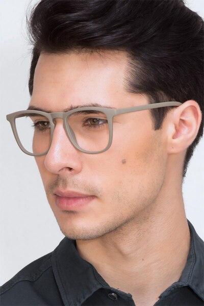 Central  Matte Green  Plastic Eyeglass Frames for Men from EyeBuyDirect