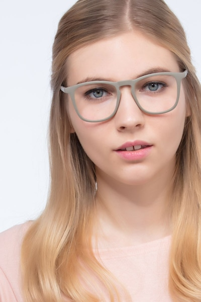 Central  Matte Green  Plastic Eyeglass Frames for Women from EyeBuyDirect, Front View