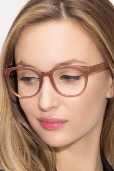 Grace Brown Plastic Eyeglass Frames for Women from EyeBuyDirect