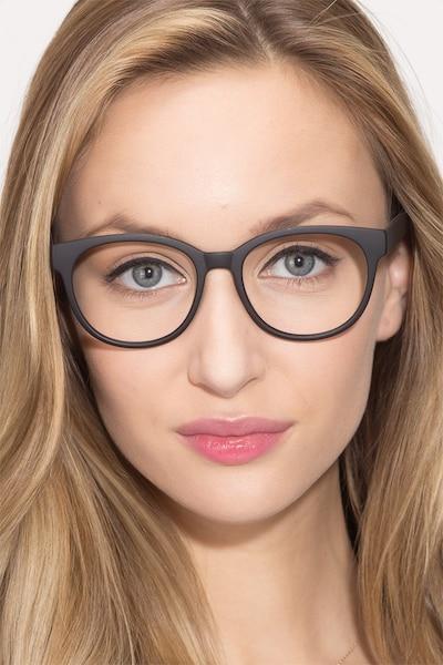 Grace Matte Black Plastique Montures de Lunettes pour Femmes d'EyeBuyDirect