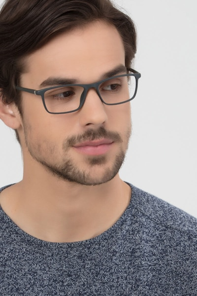 Sullivan Ash Plastic Eyeglass Frames for Men from EyeBuyDirect, Front View