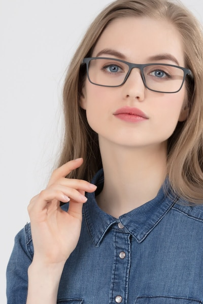 Sullivan Ash Plastic Eyeglass Frames for Women from EyeBuyDirect, Front View