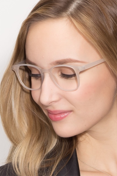 Monday Matte White Plastic Eyeglass Frames for Women from EyeBuyDirect
