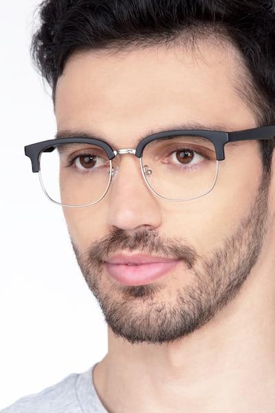 Yokote Matte Black Métal Montures de Lunettes pour Hommes d'EyeBuyDirect