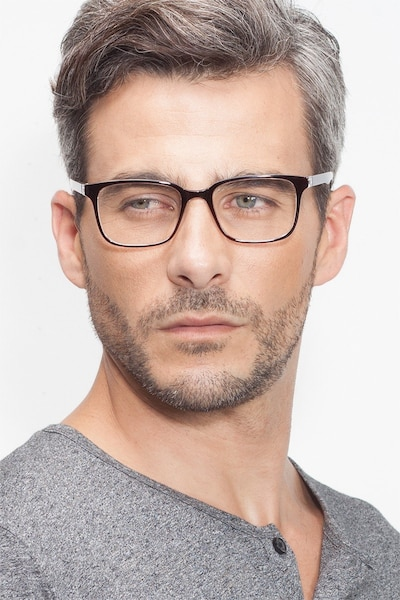 November Brown Clear  Plastic Eyeglass Frames for Men from EyeBuyDirect