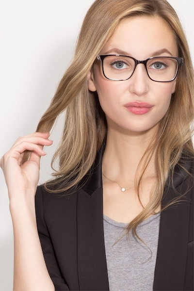 November Brown Clear  Plastic Eyeglass Frames for Women from EyeBuyDirect