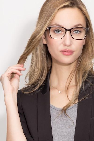 November Brown Clear  Plastique Montures de Lunettes pour Femmes d'EyeBuyDirect