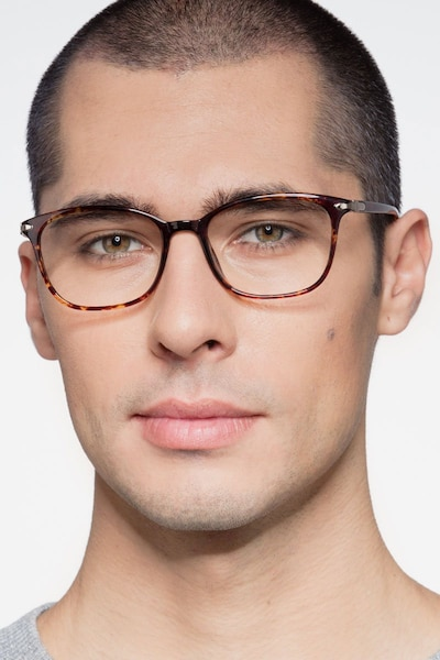 Nola Brown Plastic Eyeglass Frames for Men from EyeBuyDirect