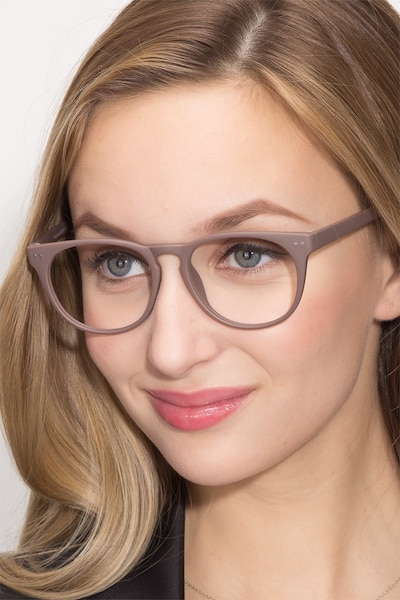Brick Lane Matte Brown Plastic Eyeglass Frames for Women from EyeBuyDirect