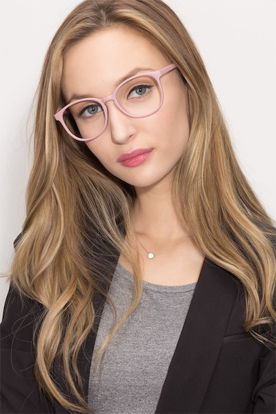 Matte Pink Dutchess -  Fashion Plastic Eyeglasses