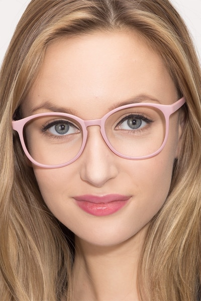 Dutchess Matte Pink Plastic Eyeglass Frames for Women from EyeBuyDirect