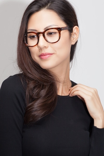 Eloquence Marbled Hazel Acetate Eyeglass Frames for Women from EyeBuyDirect