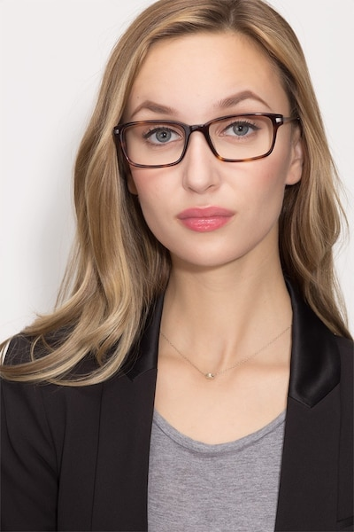 Dreamer Tortoise Acetate Eyeglass Frames for Women from EyeBuyDirect, Front View