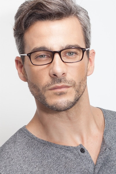 Fallon  Brown  Acetate Eyeglass Frames for Men from EyeBuyDirect, Front View