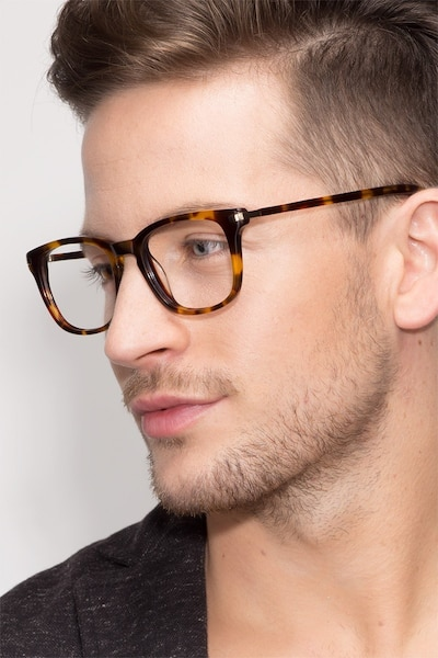 Infinity Tortoise Acetate Eyeglass Frames for Men from EyeBuyDirect