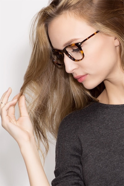 Infinity Tortoise Acetate Eyeglass Frames for Women from EyeBuyDirect