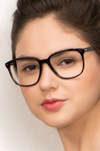 Lisbon Dark Tortoise Acetate Eyeglass Frames for Women from EyeBuyDirect