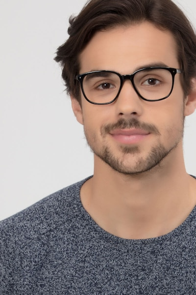Lisbon Black Acetate Eyeglass Frames for Men from EyeBuyDirect