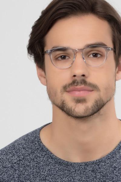 New Day Transparent Acétate Montures de Lunettes pour Hommes d'EyeBuyDirect, Vue de Face