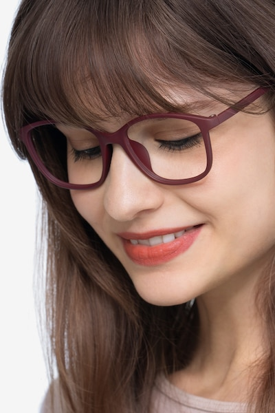 Saint Lou Burgundy Plastic Eyeglass Frames for Women from EyeBuyDirect