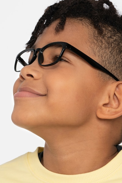 Little Drums Black Plastic Eyeglass Frames for Men from EyeBuyDirect