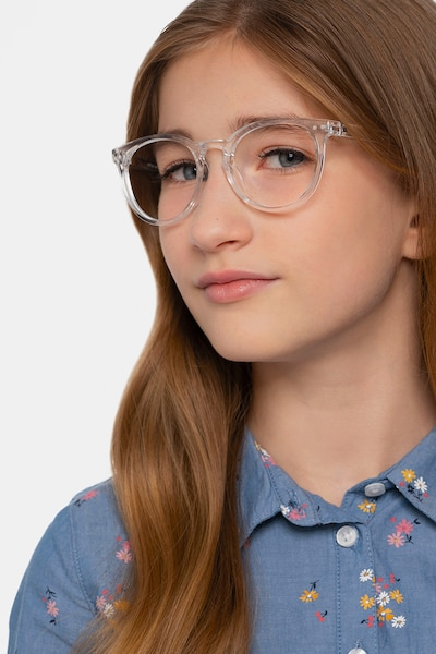 Little Morning Clear Plastic Eyeglass Frames for Women from EyeBuyDirect, Front View