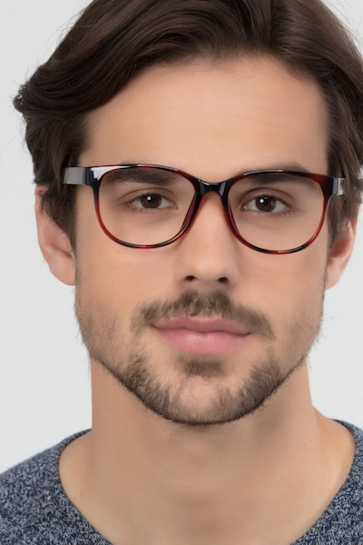 Warren Brown Plastic Eyeglass Frames for Men from EyeBuyDirect