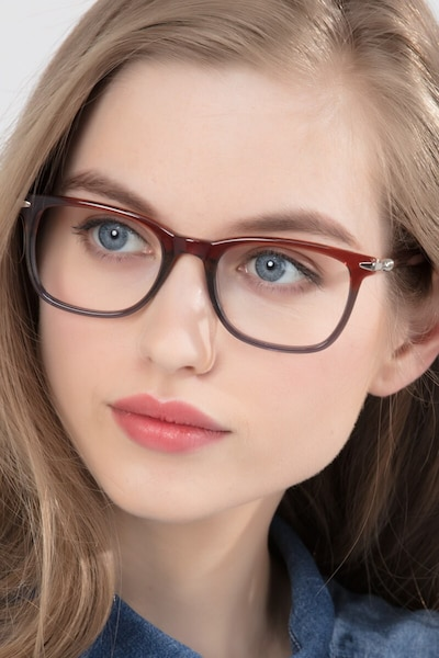 Rooibos Brown Acetate Eyeglass Frames for Women from EyeBuyDirect