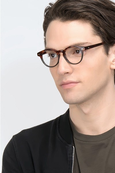 Concept Fire Stone Acetate Eyeglass Frames for Men from EyeBuyDirect, Front View