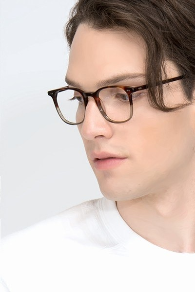 Sequence Charred Quartz Acetate Eyeglass Frames for Men from EyeBuyDirect