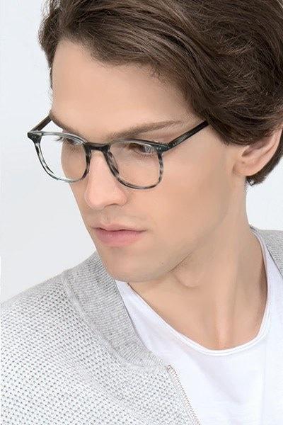 Sequence Ocean Tide Acetate Eyeglass Frames for Men from EyeBuyDirect