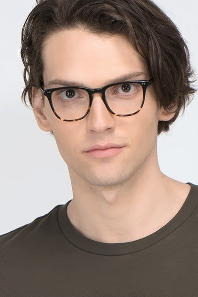 Exposure Jet Amber Acetate Eyeglass Frames for Men from EyeBuyDirect